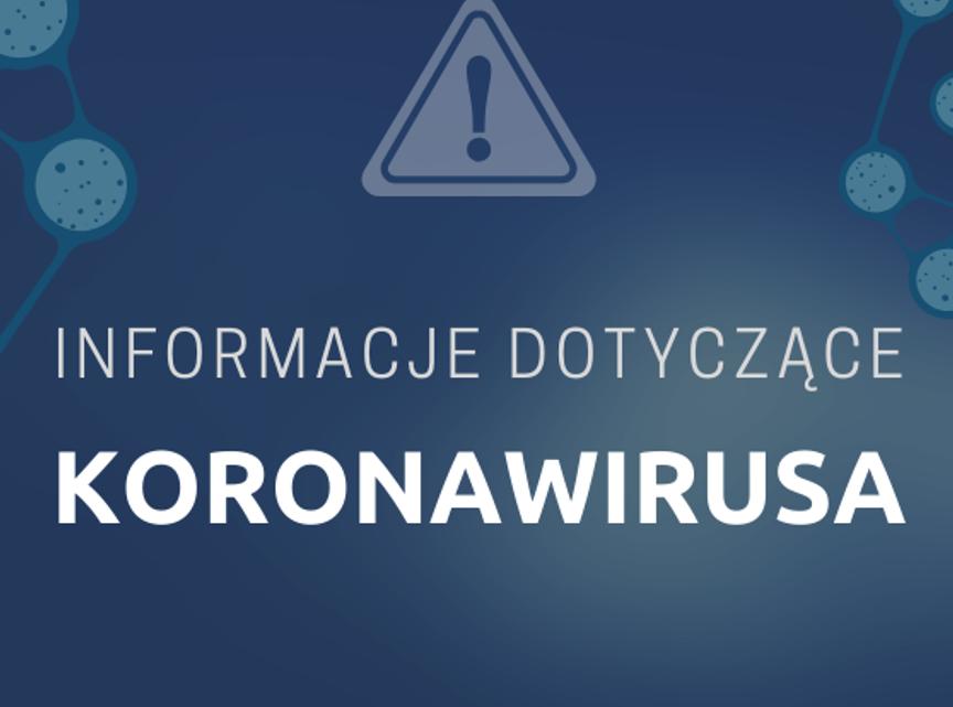 obraz informacji dotyczące koronawirusa